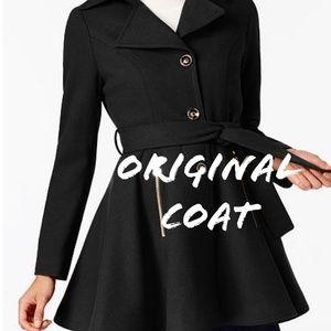 resurrected design Jackets & Coats - Black Pin-up style double fur trimmed coat